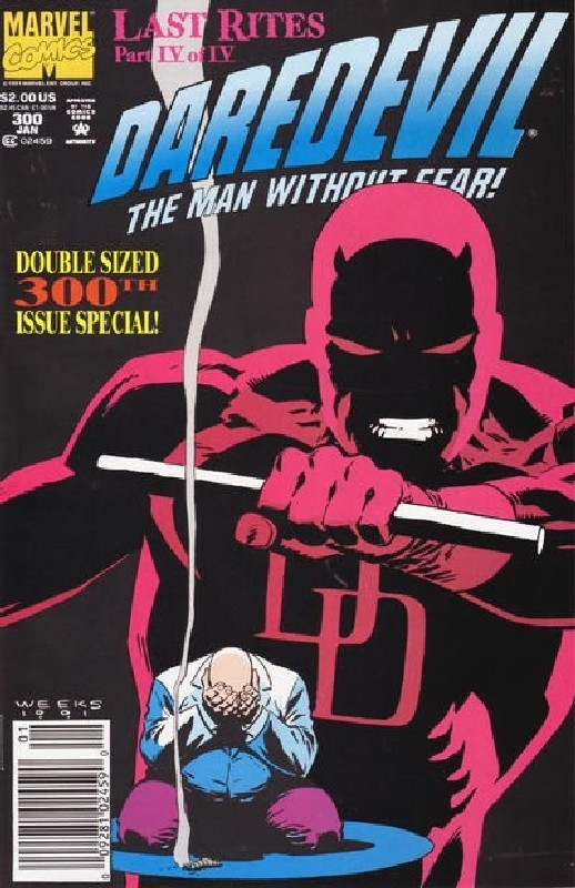Cover of Daredevil (Vol 1) #300. One of 250,000 Vintage American Comics on sale from Krypton!