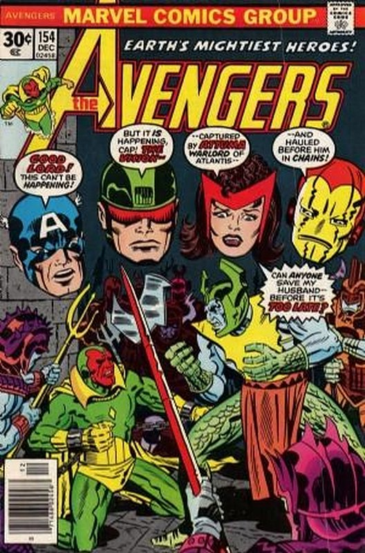 Cover of Avengers (Vol 1) #154. One of 250,000 Vintage American Comics on sale from Krypton!