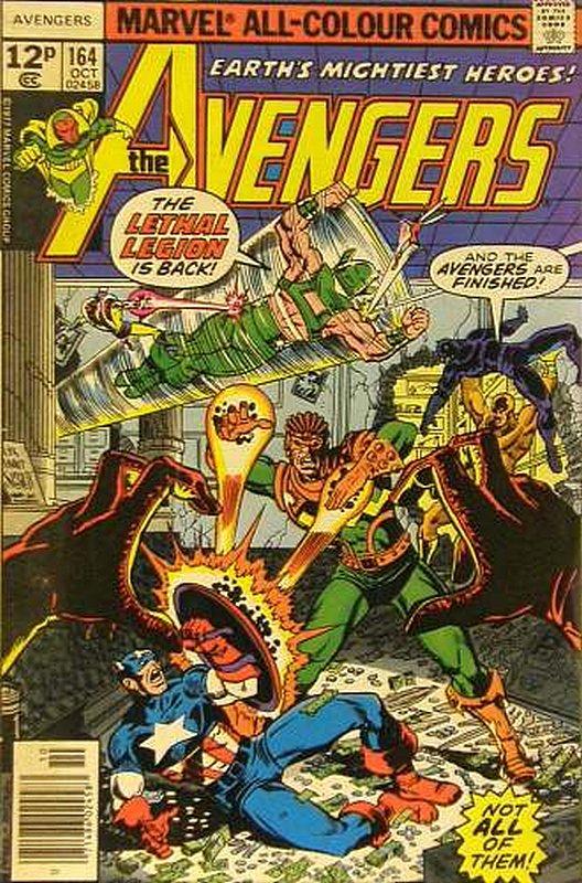 Cover of Avengers (Vol 1) #164. One of 250,000 Vintage American Comics on sale from Krypton!