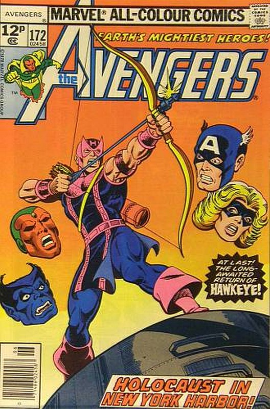 Cover of Avengers (Vol 1) #172. One of 250,000 Vintage American Comics on sale from Krypton!