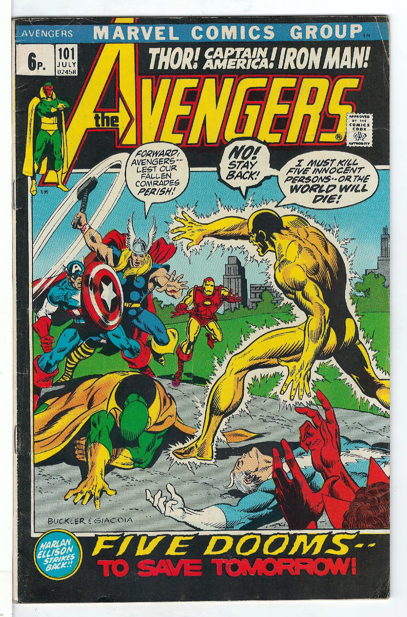 Cover of Avengers (Vol 1) #101. One of 250,000 Vintage American Comics on sale from Krypton!