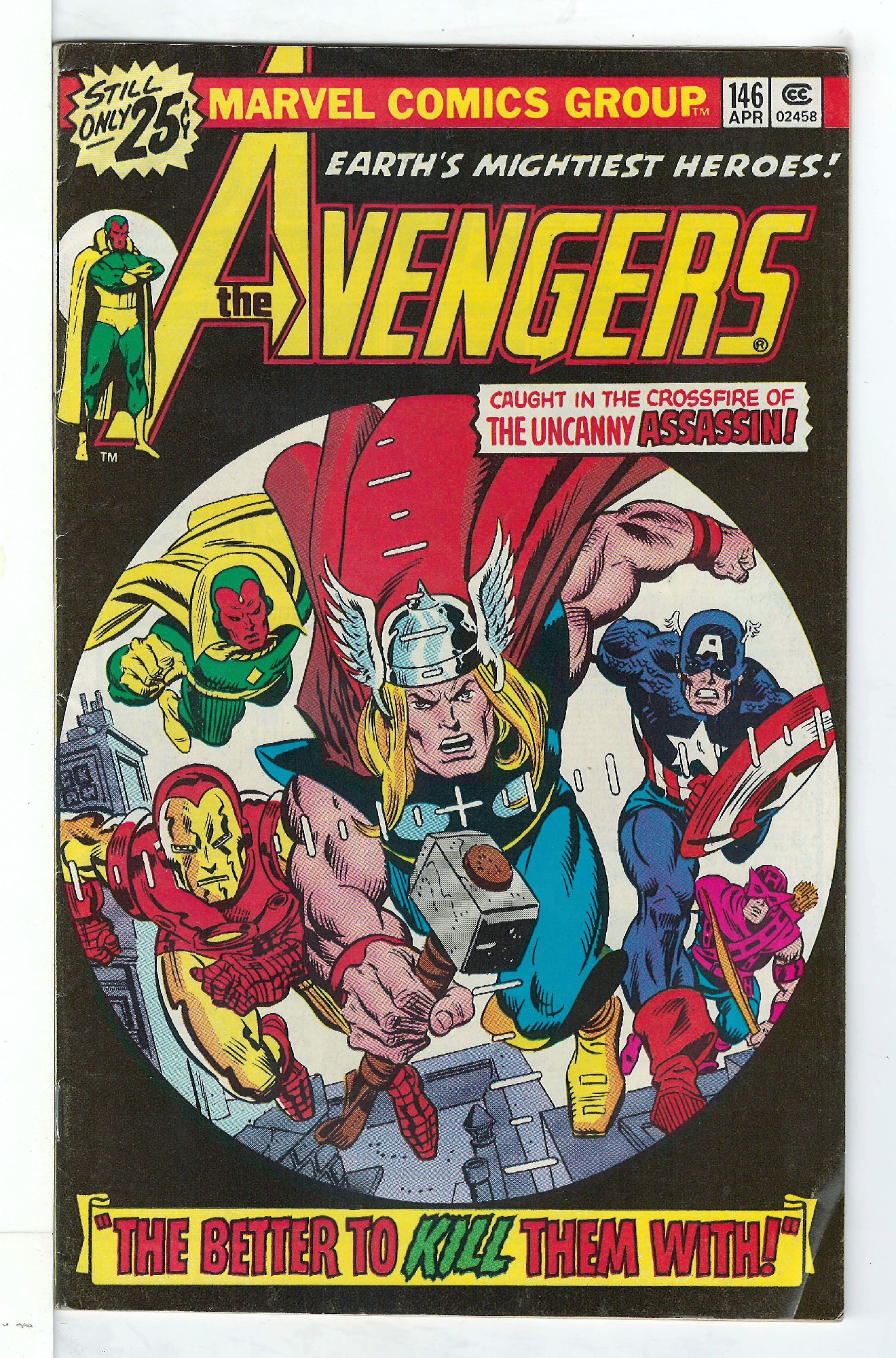 Cover of Avengers (Vol 1) #146. One of 250,000 Vintage American Comics on sale from Krypton!