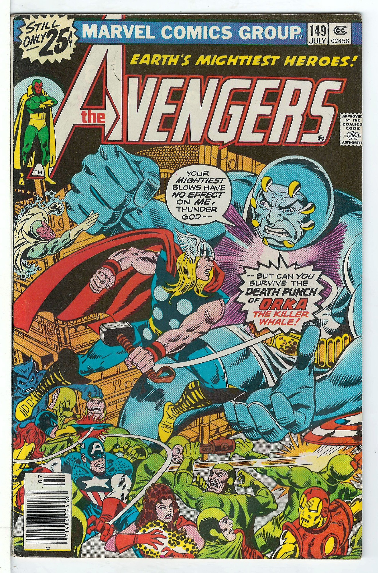 Cover of Avengers (Vol 1) #149. One of 250,000 Vintage American Comics on sale from Krypton!