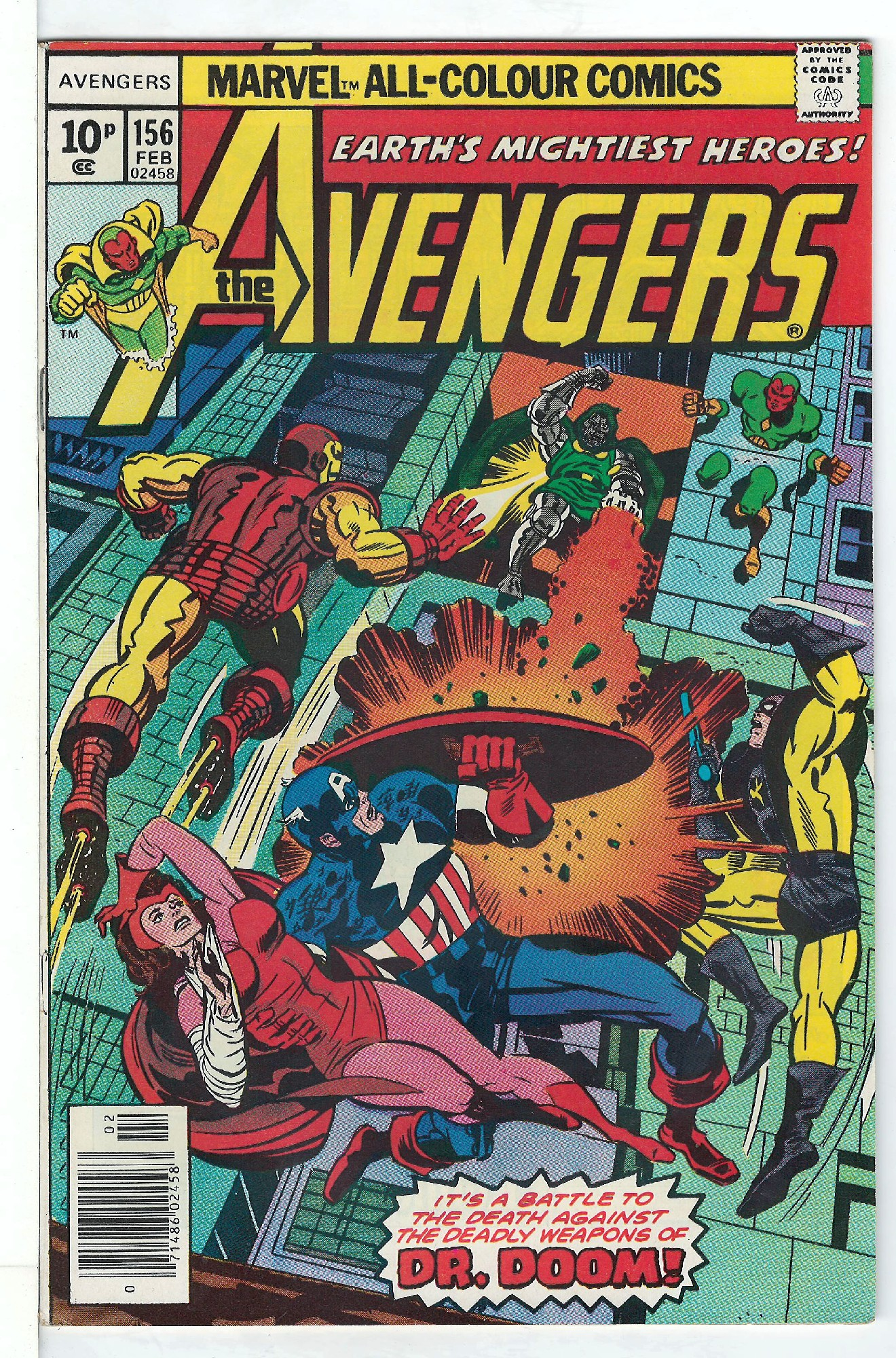 Cover of Avengers (Vol 1) #156. One of 250,000 Vintage American Comics on sale from Krypton!