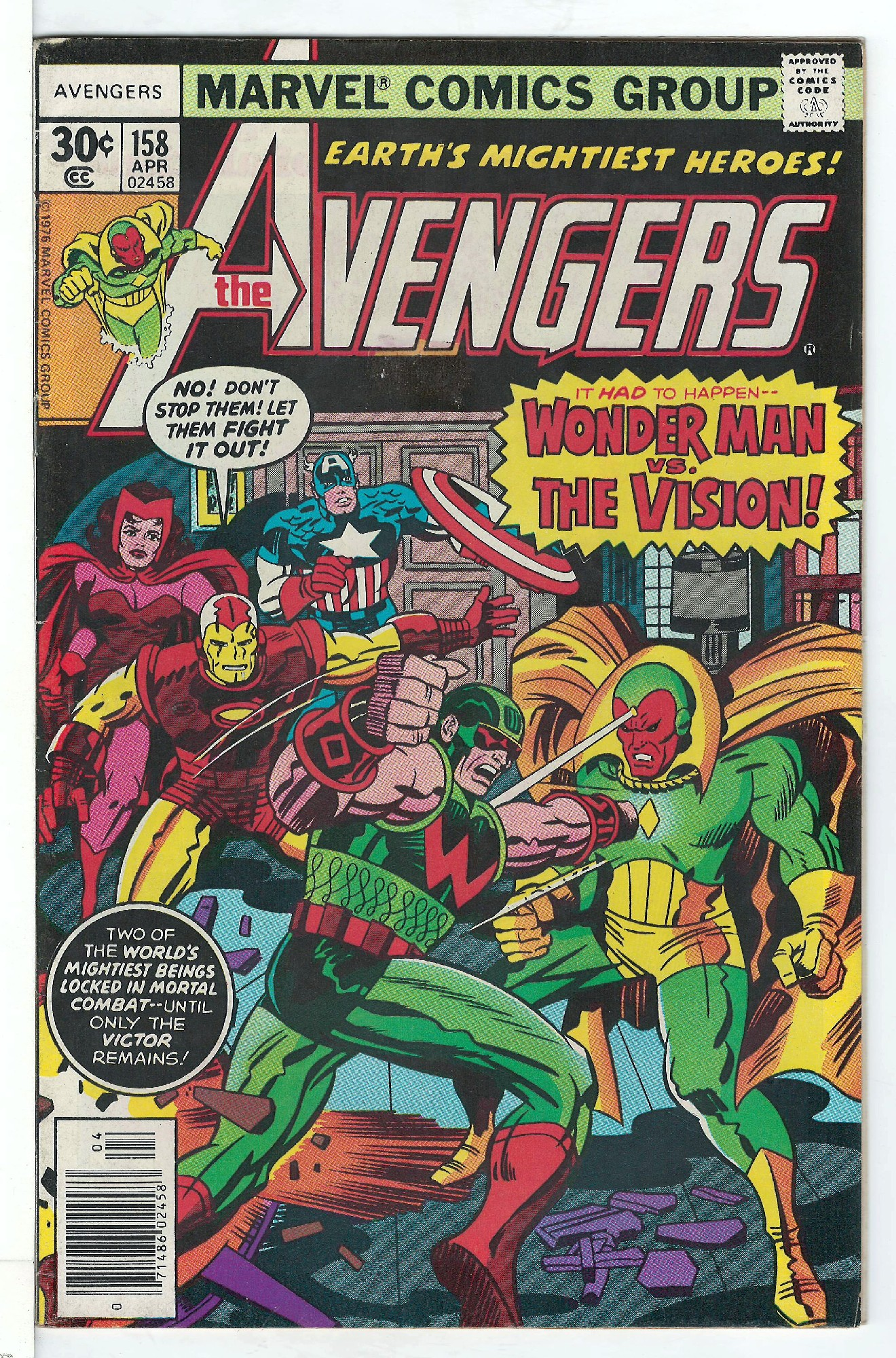 Cover of Avengers (Vol 1) #158. One of 250,000 Vintage American Comics on sale from Krypton!