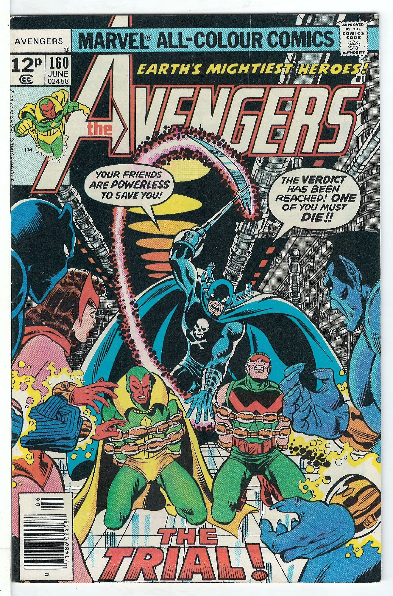 Cover of Avengers (Vol 1) #160. One of 250,000 Vintage American Comics on sale from Krypton!