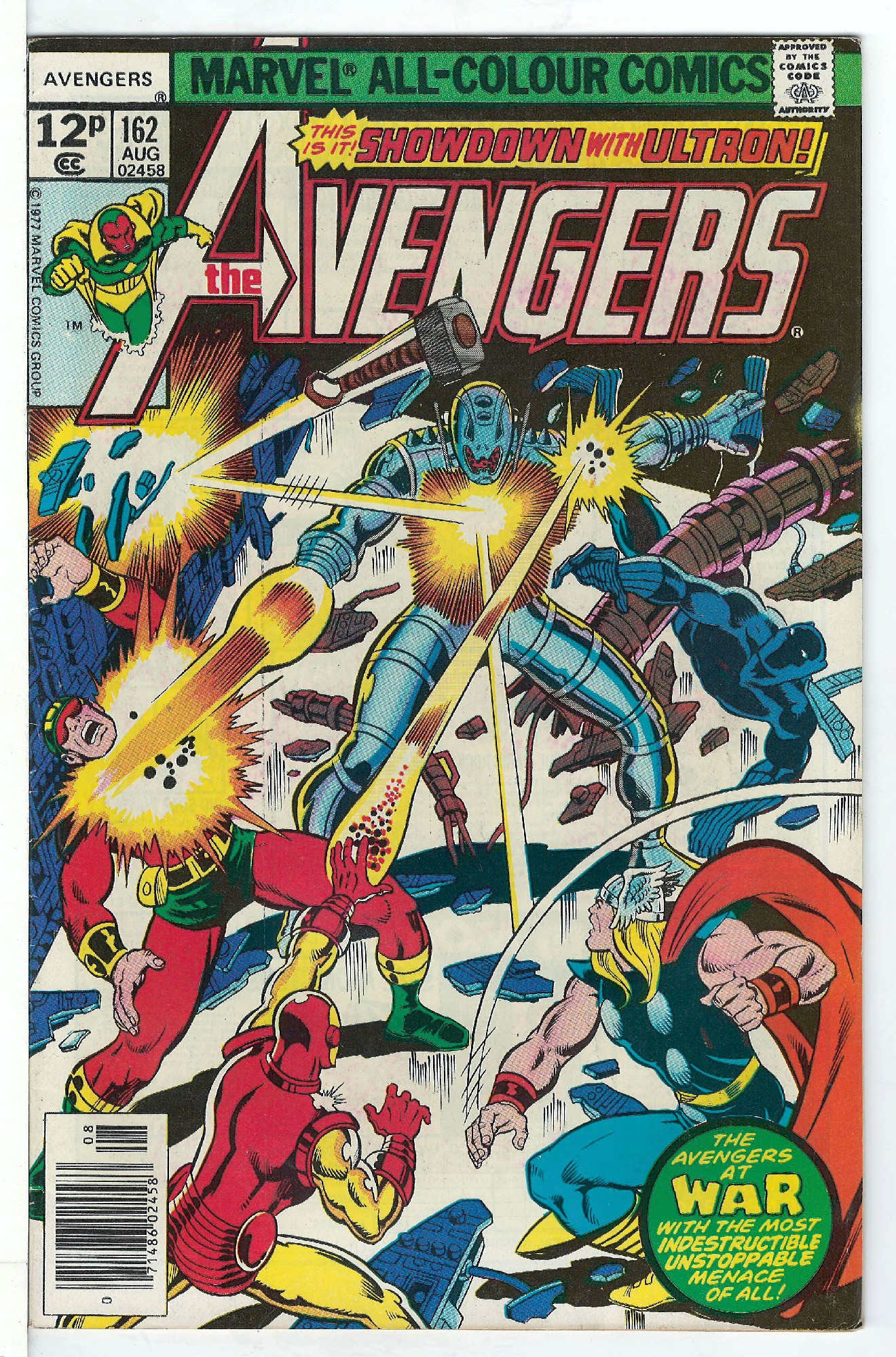Cover of Avengers (Vol 1) #162. One of 250,000 Vintage American Comics on sale from Krypton!