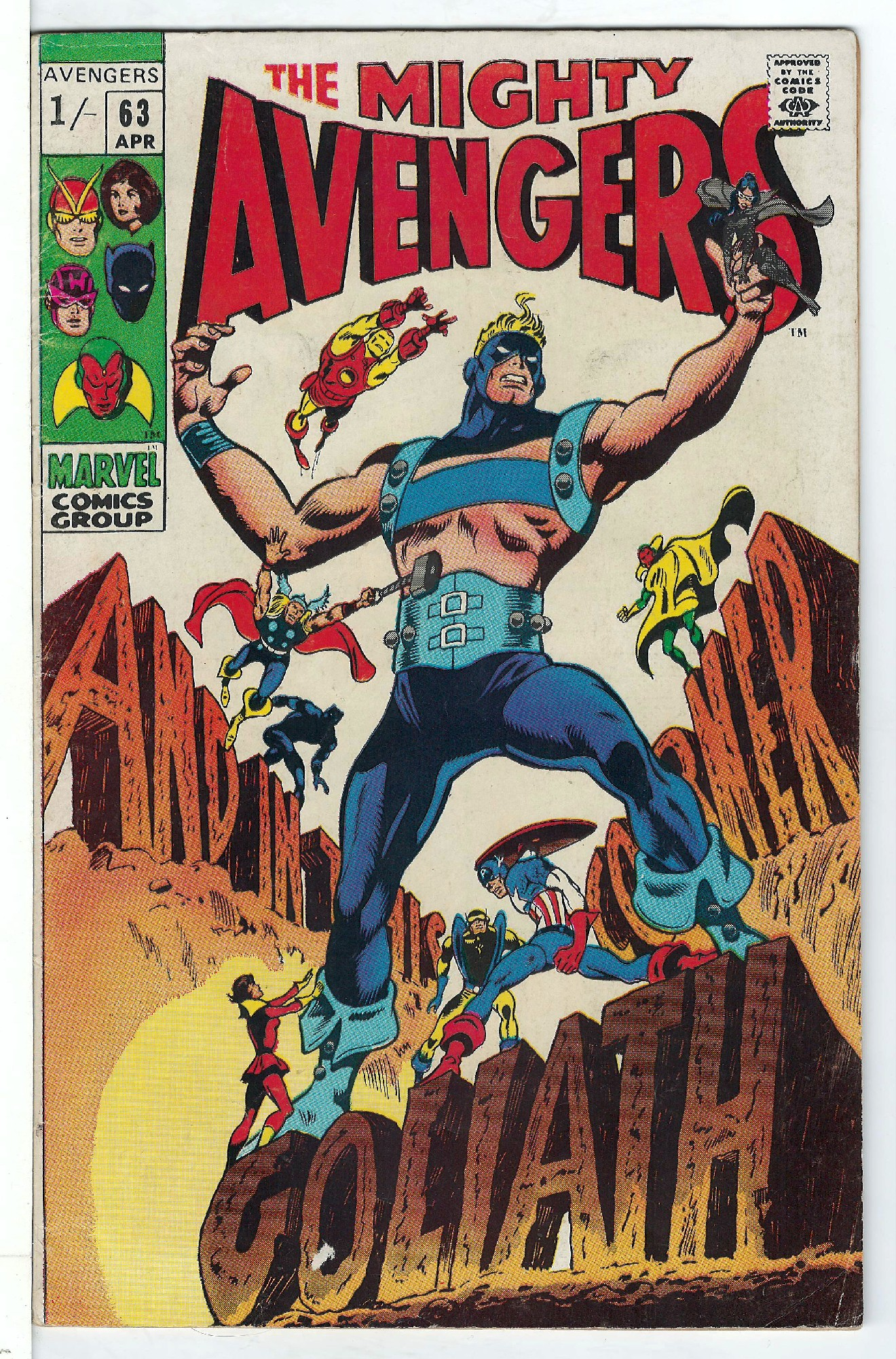 Cover of Avengers (Vol 1) #63. One of 250,000 Vintage American Comics on sale from Krypton!