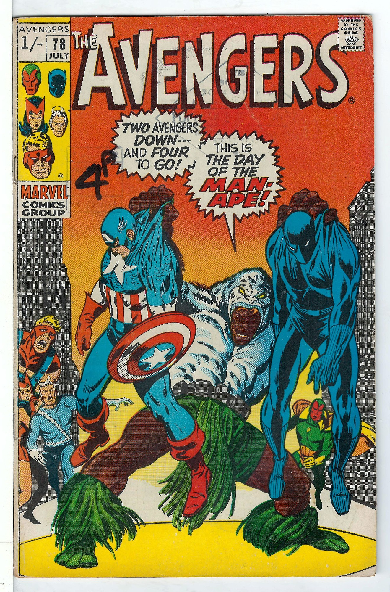 Cover of Avengers (Vol 1) #78. One of 250,000 Vintage American Comics on sale from Krypton!