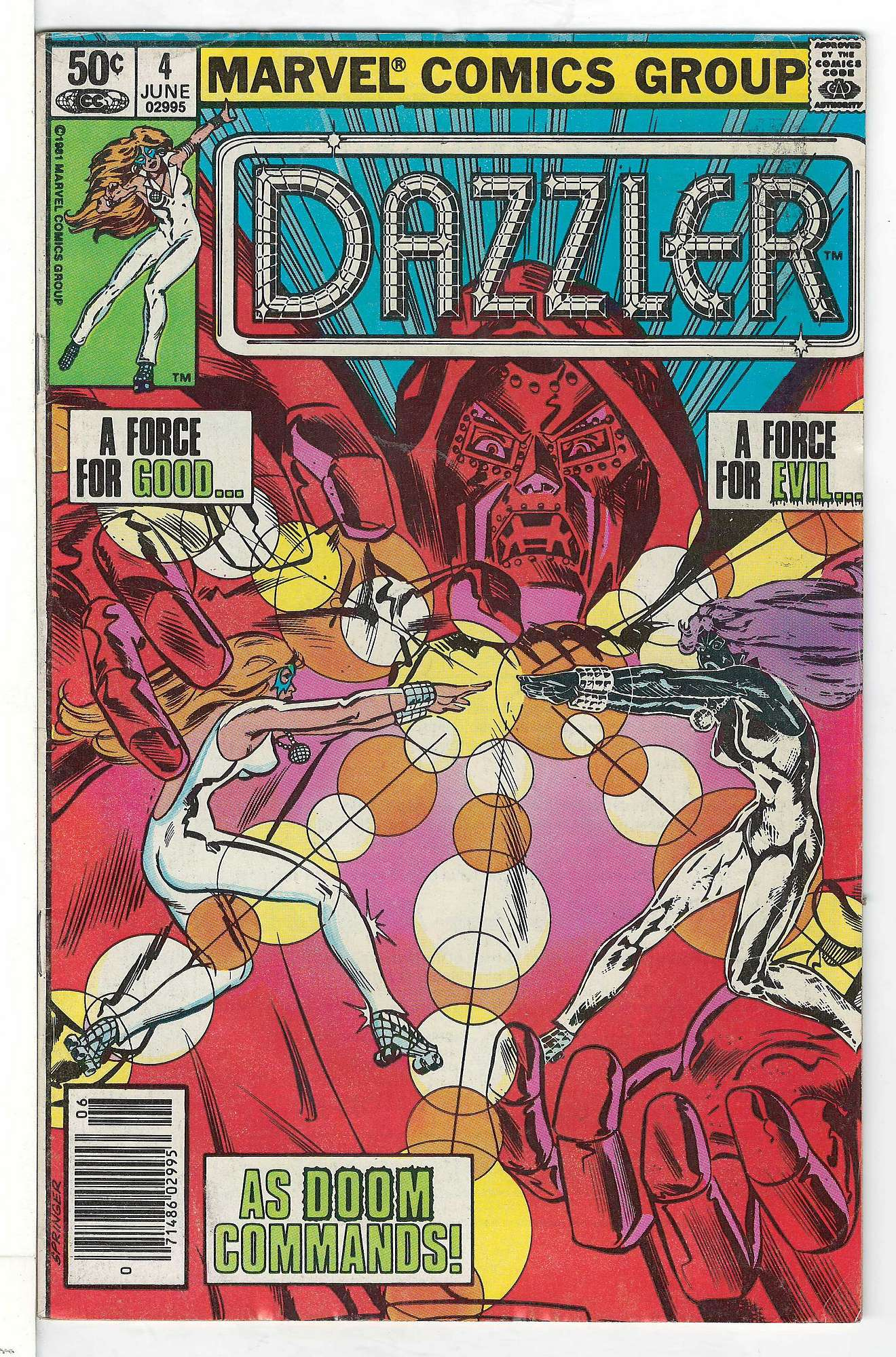 Cover of Dazzler (Vol 1) #4. One of 250,000 Vintage American Comics on sale from Krypton!
